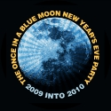 The Once In A Blue Moon New Year's Eve Party Logo