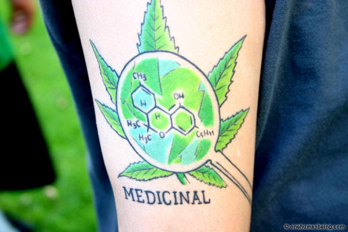 Thc Tattoo Designs: Medical Marijuana Tattoo