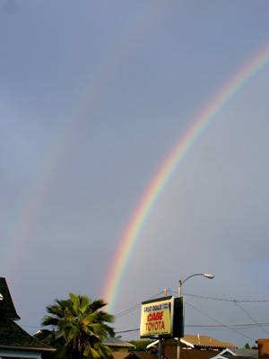Double Rainbow Detail - Click to see full Image of the Moment