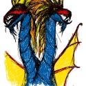Self-Portrait (As A Two-Headed Dragon) - 2009